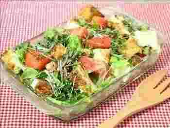 煮物やあんかけなど温かい料理のイメージが強いですが、意外にサラダにも合うんです。中華風の手作りドレッシングがポイントです。