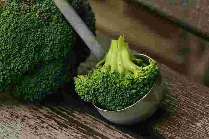 栄養価も高く、グリーンが綺麗なブロッコリーは食感のアクセントにも。ゴロッとした存在感が魅力です。