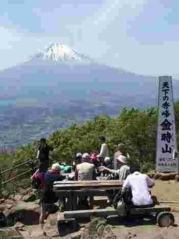 「箱根」では、山々の尾根や山腹に、登山道やハイキングコースが整備されているので、ハイキングや登山を、体力や好み、日程に応じて様々に楽しむことができます。  【「金時山」は、箱根で人気のハイキングコース。】