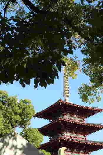 四天王寺は、1400年以上前に日本仏初の大きな寺として、推古天皇元年(593)に建立されました。 ここで開催される四天王寺骨董市は、空海の命日である毎月21日(大師会)と聖徳太子の命日である毎月22日(太子会)に行われます。