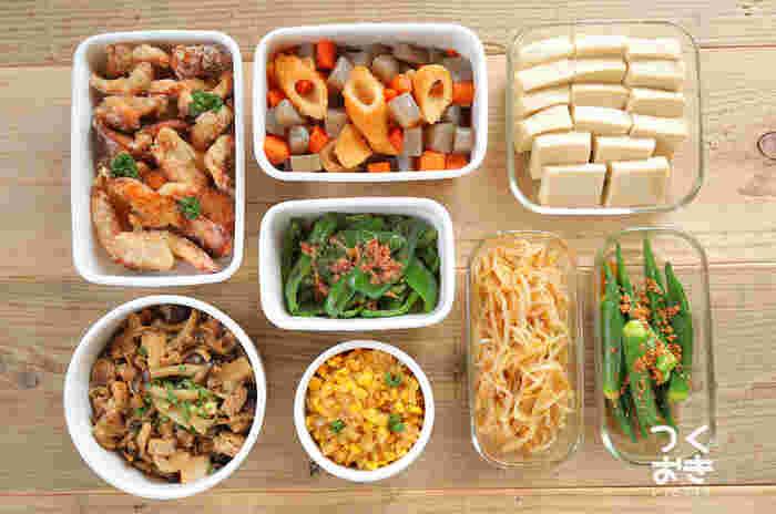 忙しい日のごはん&お弁当作りに大活躍!週末に作る「常備菜(作り置き)」のレシピ集