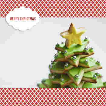 思い切って、アイシングクッキーでこんなクリスマスツリーを作ってみてはいかがでしょう!パーティーが盛り上がる事間違いナシですね♪
