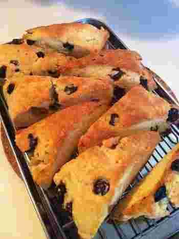 砂糖を使用せず甘さ控えめなので、朝食やブランチにおすすめ♪チーズ好きにはたまらない逸品です。ブルーベリーを加えることで、ほろ苦い甘さを楽しむことができます。