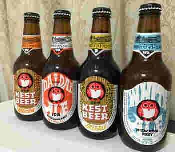 世界各国で高い評価を得ている「常陸野ネストビール」は、シンプルながらも豊潤な味と香りが楽しめるビール。世界的なコンテストでも数多くの賞を受賞しています。フクロウがモチーフの可愛らしいラベルです。