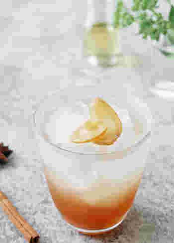 こちらのレシピでは、シナモンや八角、ローリエにとうがらしといったスパイスを加えています。香り豊かな深みのあるジンジャーシロップジュースがいただけます。