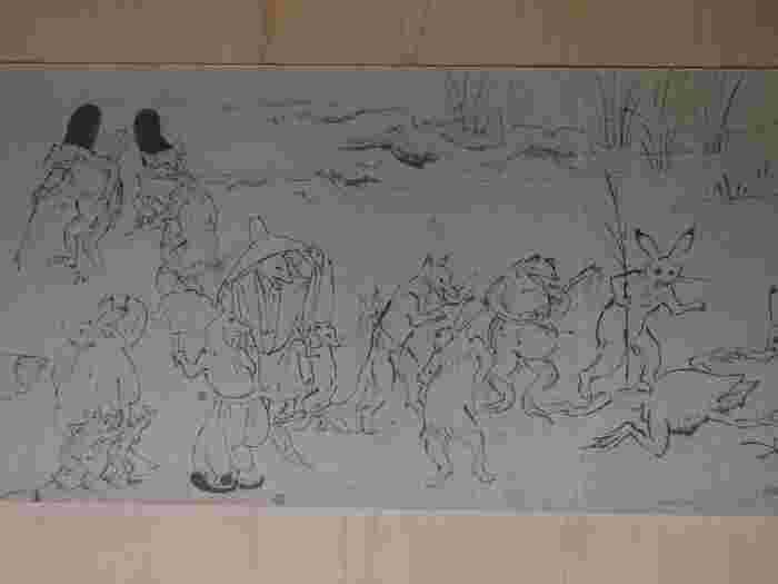 高山寺は、歴史の教科書でもおなじみの国宝「鳥獣人物戯画」を所蔵しています。紅葉見物と併せて、文化財見物を楽しんでみてはいかがでしょうか。