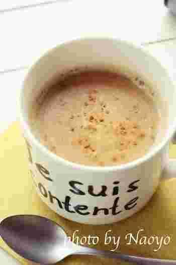 コーヒーや紅茶で手軽にシナモンが楽しめます。ココナッツミルクも入って風味豊かなラテです。