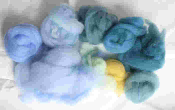 羊毛はニードルフェルトなどに使用されるのと同じものです。