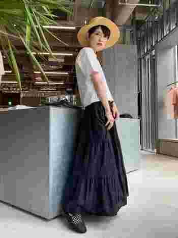 夏だって【黒】が着たい!重く見せないコツ&おすすめブラックコーデ
