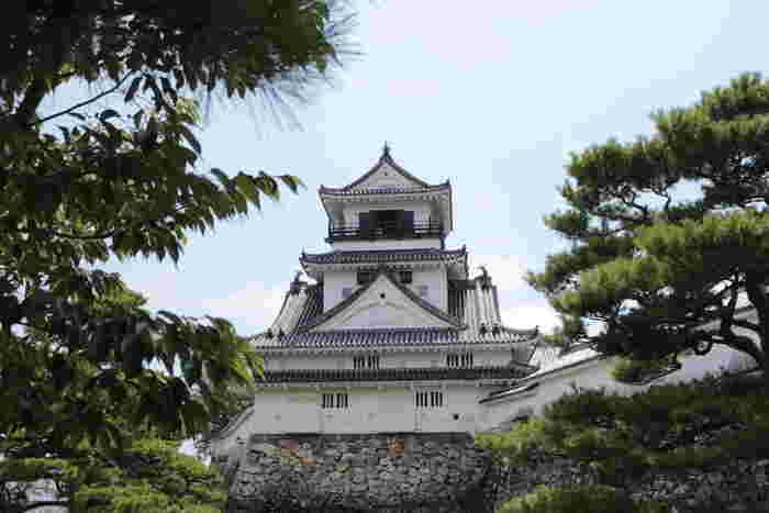 祖谷温泉から車でおよそ1時間30分で「高知城」に到着。高知城も松山城と同じく日本で12か所しか残っていない「現存12天守」のうちのひとつになります。「現存12天守」とは江戸時代またはそれ以前に建設され、現代まで保存されている天守のことをいいます。しかし、高知城だけが天守以外に本丸御殿も現存しているといわれています。