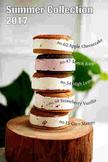 夏にちょうどいい爽やかで軽い口当たりのフレーバーが登場! アップルチーズケーキ、抹茶ラズベリー、ハイレモン、ストロベリーバニラ、ココマンゴーの5種。 限定なので、お早めに!