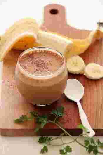 バナナシェイクにコーヒーを香らせたスペシャルなドリンク。バニラアイスまで加えていますので、濃厚さが違います。