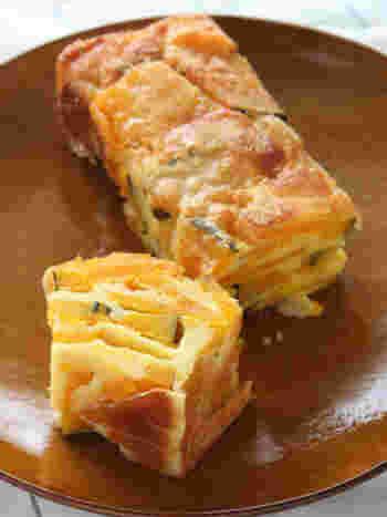 果物ではないけれど、かぼちゃを使ったほのかに甘みのあるガトー・インビジブル。粉チーズがアクセントになって、おやつにも、ランチにもおすすめです。