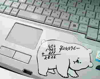 書いたら消せるので、ちょっとしたメモなどに便利。磁気ではないのでパソコンに貼りつけてもOKです(ただし貼り直しはできないのでご注意を!)
