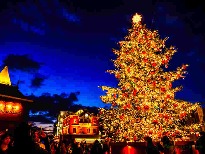 しっとり大人の雰囲気ただよう恵比寿ガーデンプレイスも、毎年イルミネーションが人気のスポット。まるで外国のような巨大クリスマスツリーの前は、待ち合わせする恋人たちでいつもにぎわっています。