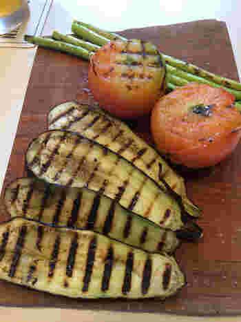 「BBQセット」では上勝産の野菜のグリルも味わえます。個性豊かなクラフトビールと共に、味わってみませんか。