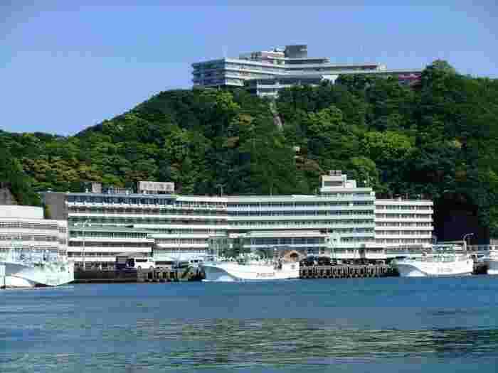 那智勝浦温泉のホテル浦島。敷地が広大で、全部で5つの温泉があります。世界遺産の熊野古道に近いのも魅力。