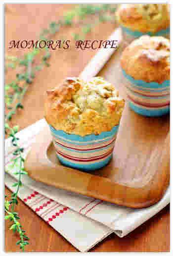 卵・砂糖・油不使用で、お豆腐を使ったヘルシーなカップケーキ。ホットケーキミックスをまぜて焼くだけのお手軽さ。