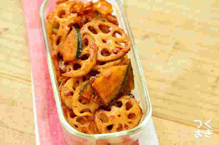 お弁当のおかずにおすすめ◎冷蔵保存すれば5日くらい日持ちします。バルサミコ酢とケチャップを使用して、食べやすく味つけしています。まとめて作って保存しておけば、夜ご飯に、お弁当に大活躍しますね☆