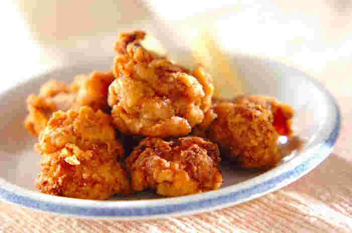 お弁当に入っているとうれしい鶏のからあげ。 いくつでもたべられます。