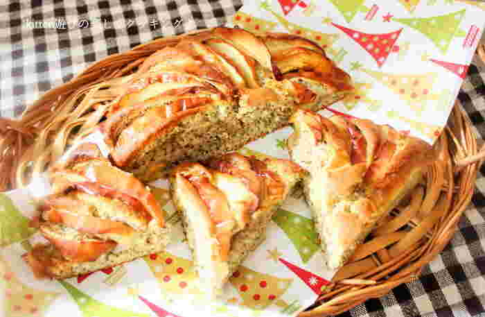 1年中手に入るリンゴはケーキ作りに欠かせないフルーツですよね。アールグレイやダージリンなど。紅茶の香りを楽しみながらいただくケーキは格別ですよ。