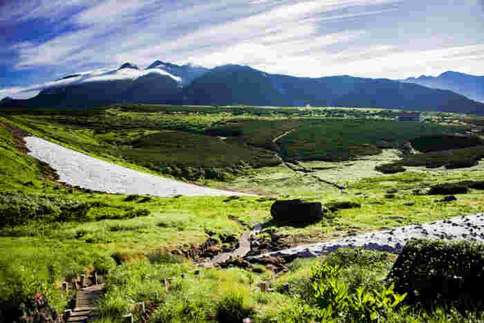岐阜県高山市に位置する五色ヶ原は、北アルプスの名峰・乗鞍岳西側麓に広がる標高1300メートルから標高1600メートルの台地です。