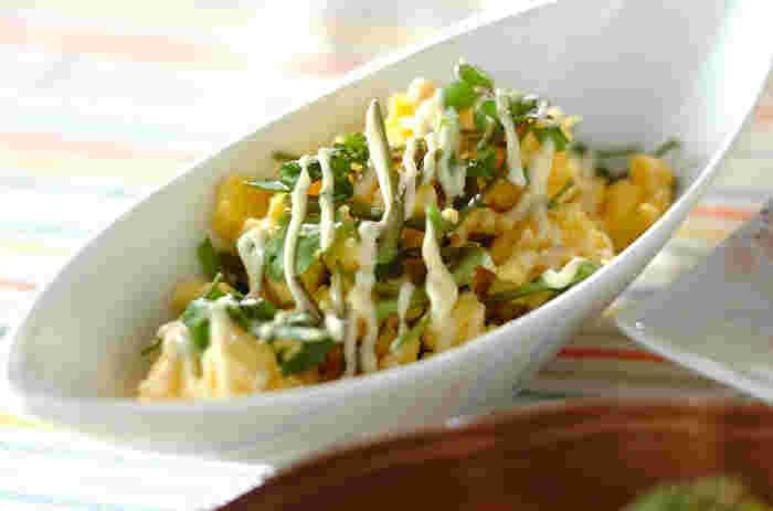 卵焼きより簡単な卵料理です。朝ごはんとして食べた残りをお弁当に入れるのも◎。