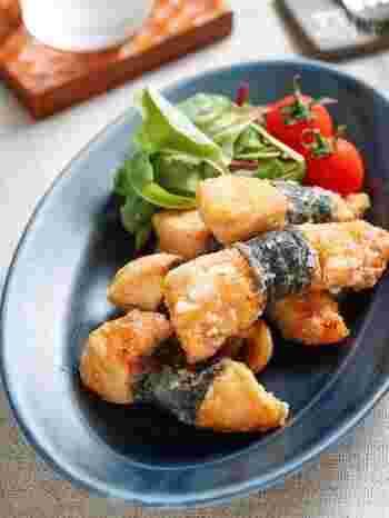 パサつきやすい鶏むね肉ですが、お肉に下味を揉み込むので冷めてもしっとり。甘辛味もお弁当によく合います(冷蔵3~4日)。