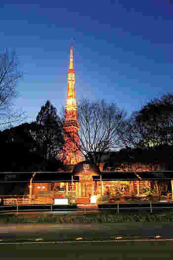 「ル・パン・コティディアン」は、ベルギーでも人気のベーカリーカフェの日本第一号店です。東京タワーが目の前に見える位置にお店がありますので、ランチタイムもディナータイムも、美しい東京タワーを眺めながらお食事することができます。東京タワー観光の行き帰りにも便利なカフェですよ。