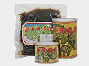 真室川町及位の深山の天然山蕗を原料に、代々伝わる秘伝のタレでじっくり煮込んだ無添加の手造りの甘露煮。甘すぎず、辛すぎずない甘露煮は、ごはんのお供にはもちろん酒の肴にもぴったりです。