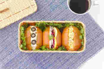 縦と横の幅が異なる竹ひごを使って編まれたパンかごは、ライトなお弁当箱としても素敵です。薄く削いだ竹でできているので、非常に軽く、持ち運びにも便利です。