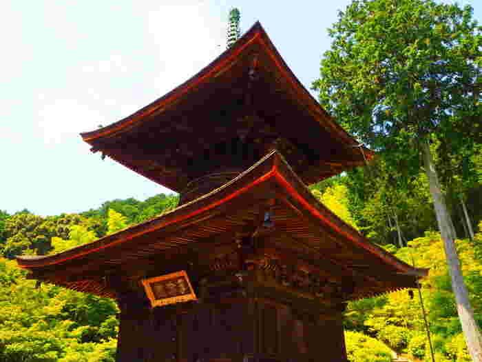もう一つの見所は、均整の取れたフォルムが美々しい、桃山期建造の「多宝塔」(重要文化財)。