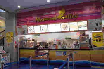 館内にある唯一の飲食店「マーメイドギャレー」。軽食やソフトクリーム、ドリンクも充実しているので、館内巡りに疲れた時のブレイクタイムに♪