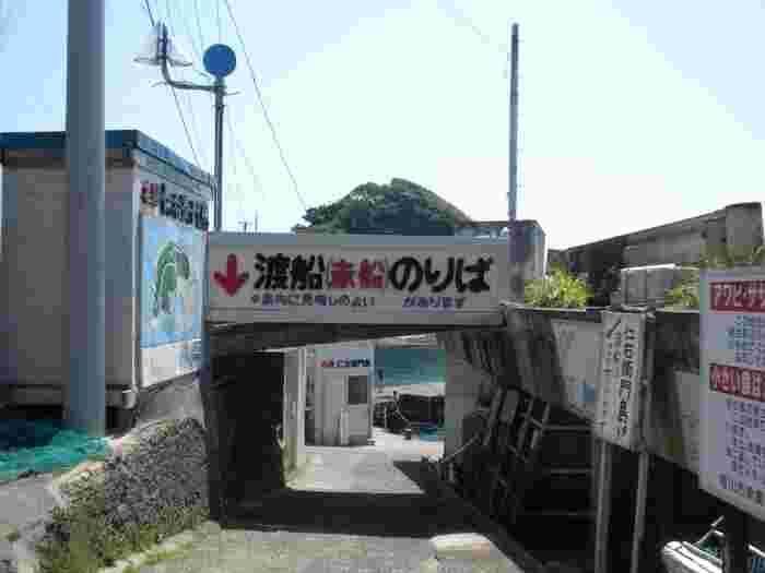 「仁右衛門島(にえもんじま)」は、JR内房線の太海駅から歩いて15分ほどのところにある、太海漁港から渡し舟で約5分行った先にある小さな島。新日本百景にも選ばれている自然豊かな場所です。
