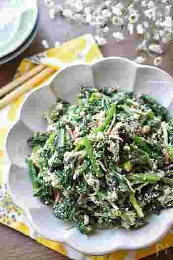 たったの5分で簡単に作れる「ほうれん草とツナのサラダ」。しかも火を使わずに作れる嬉しいレンチンレシピです。隠し味のわさびが全体の味を引き締めて、抱えて食べたくなるような美味しさに仕上がります。