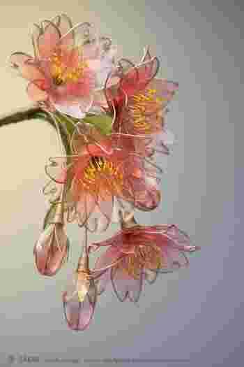 本物の花よりも美しい「華」を咲かせる簪作家「榮-sakae-」さん。 Photo by Ryoukan Abe (www.ryoukan-abe.com)