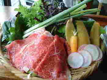 ランチでもディナーでも鎌倉野菜がたっぷりいただけます。色鮮やかな鎌倉野菜はヘルシーでたっぷり食べても罪悪感なし。