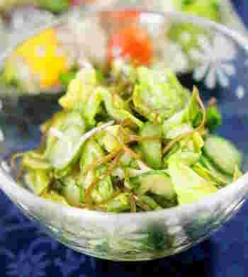 和食にぴったりな和風ピクルスです。春キャベツの食感が浅漬けのようで、さっぱりと食べられます。