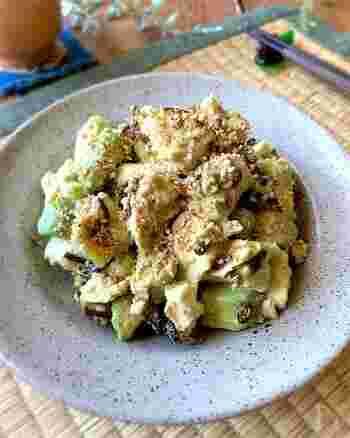 お豆腐とアボカドでつくるお手軽レシピ。味付けは白だし&マヨネーズでラクラクです。