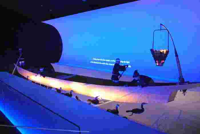 長良川の鵜飼についてを分かりやすく説明、紹介。世界でここだけの絵巻物型スクリーンで観る「ガイダンスシアター」の映像や、参加体験型展示など、見どころがいっぱいです。