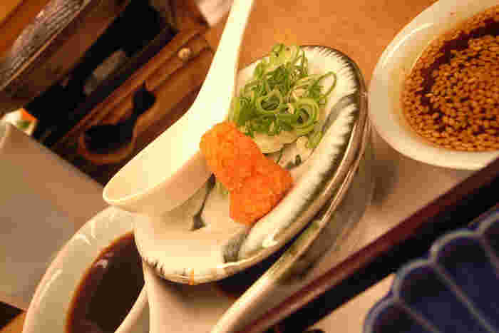 湯豆腐にかかせない!?のが、もみじおろし。 ピリッとした辛みがたまりませんよね。