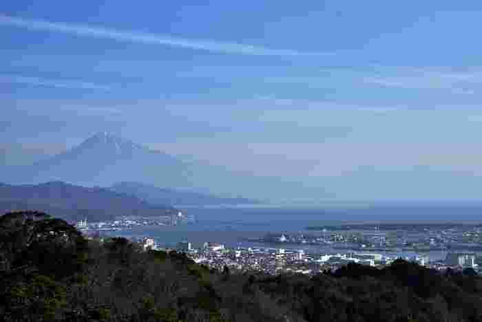 静岡県清水市に位置する日本平は、駿河湾に面した標高307メートルの有度山一帯の総称です。富士山と清水港が一望できる素晴らしい景勝地であるこの地は、国の名勝に指定されています。