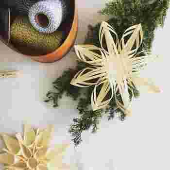自然素材だからこそ、グリーンとの相性も抜群。  『SeeMONO』は毎月1回、最大12回、毎回違ったデザインのネーベルスロイドを作ることができるので、テーブルの上にグリーンとともに並べて、食卓をコーディネイトしても◎。  シンボルツリーからぶら下げてオーナメントとして使ったり、観葉植物をまとめて飾っているスペースにそっと忍ばせても素敵ですね。