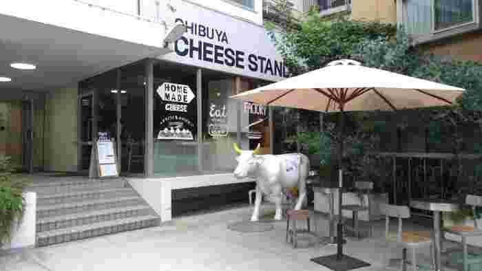 奥渋谷NHK近くにある牛ちゃんでお馴染みの「SHIBUYA CHEESE STAND」。