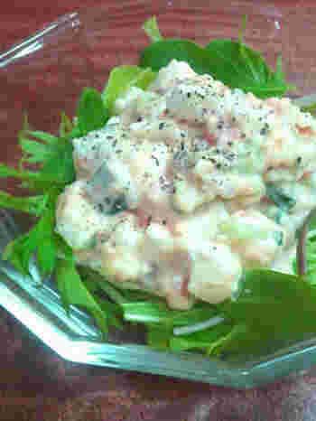 肉じゃががポテトサラダに!?と驚かれる方もいるかとおもいます。和風の味付けで美味しいですよ♪