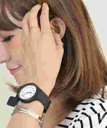 プチプライスで満足度のデザインも機能性も高い時計は、そう多くはないものです。気軽に購入できる価格なので、アクセサリー感覚でひとつ買ってみては?