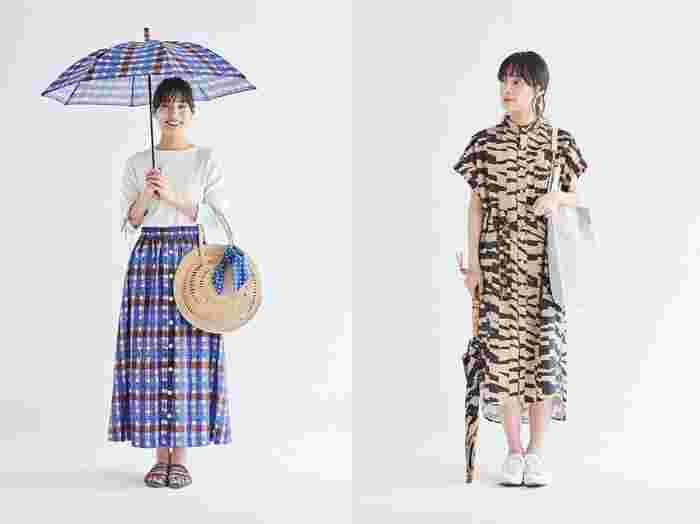 今季のスカートやワンピースに用いているテキスタイルと同じレトロプリントもあり、お揃いで合わせることで、トータルコーディネートも楽しめます。