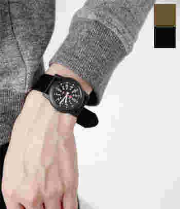 TIMEX(タイメックス)の定番モデル、キャンパー。ミリタリーテイストでメンズライクな時計の代表格。