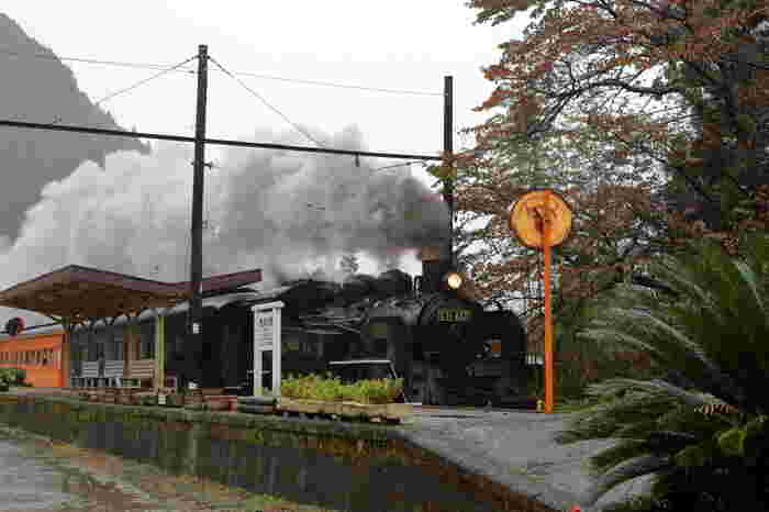 昭和初期における日本の鉄道駅の面影を今に残す田野口駅は、その素朴で温かい佇まいが評価され、映画のロケ地としても使われることもあります。