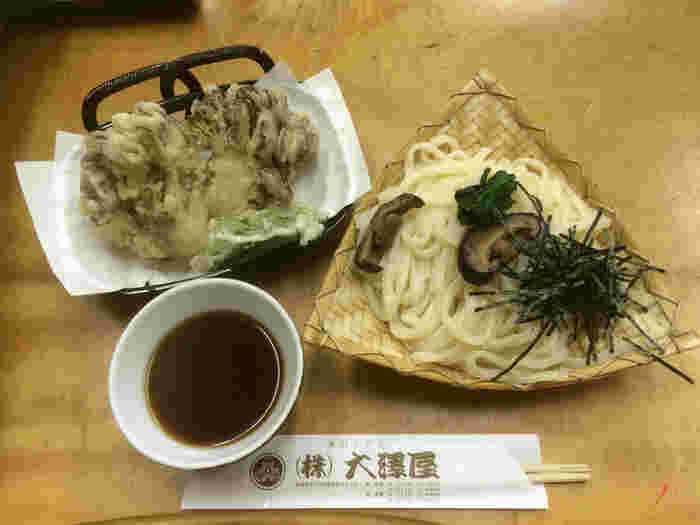 大澤屋で評判の舞茸天ぷらはシャキシャキの食感が魅力!
